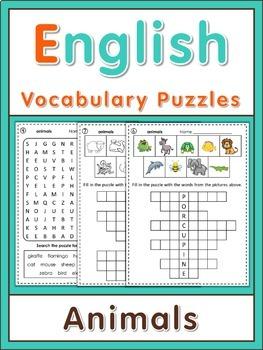 ESL Vocabulary Puzzles  animals