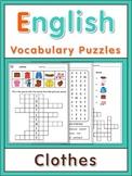 ESL Vocabulary Puzzles  clothes