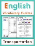 ESL Vocabulary Puzzles  transportation