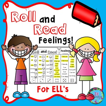 ESL Vocabulary Roll and Read Feelings with Emojis!  Fun ELL Activity!