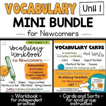 ESL Vocabulary Workbook, Cards and Sorts: Unit 1 Mini Bundle