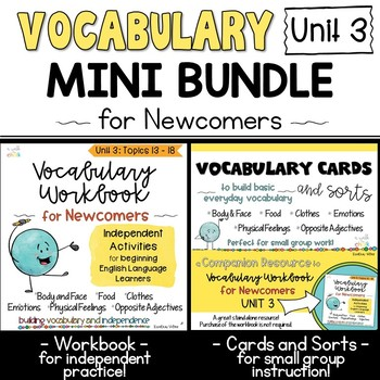 ESL Vocabulary Workbook, Cards and Sorts: Unit 3 Mini Bundle