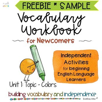 ESL Vocabulary Workbook for Beginners FREEBIE - Colors