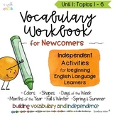 ESL Vocabulary Workbook for Newcomers Unit 1