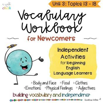 ESL Vocabulary Workbook Unit 3