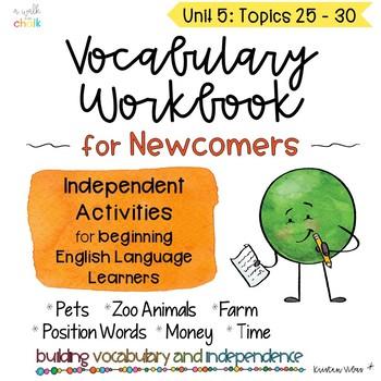 ESL Vocabulary Workbook for Beginners Unit 5