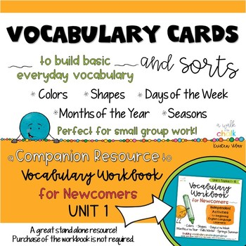 ESL Vocabulary Cards and Sorts Unit 1