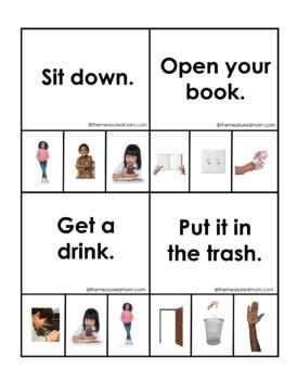 ESL Vocabulary for Beginners: School Commands
