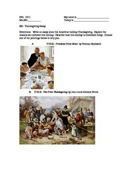 Hamlet Essay Thesis Eslenl Writing Thanksgiving Essay Level  Political Science Essay also Sample Essay Paper Eslenl Writing Thanksgiving Essay Level  By Urbino  Tpt English Essay Sample