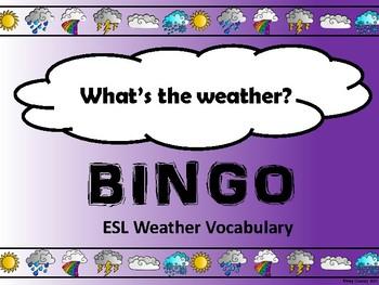 ESL Weather Bingo