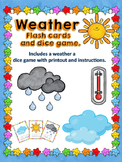 ESL Weather Flash Cards and Weather Movement Game