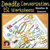 ESL Weather & Seasons Conversation Worksheets