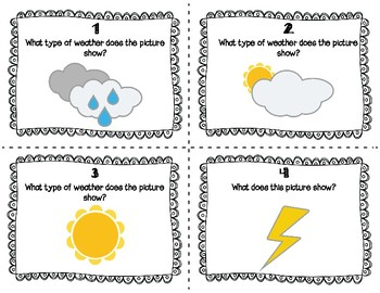 ESL Weather Task Cards