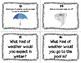 ESL Weather Task Cards