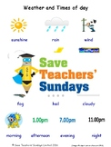ESL Weather & Times of Day Worksheets, Games, Flash Cards & More (with audio)