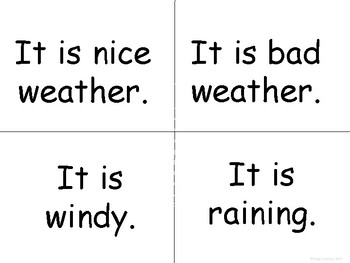 ESL Weather Vocabulary Word Wall