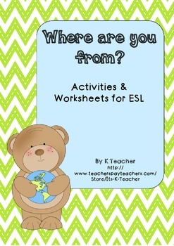 ESL Where are you from? worksheets and activities