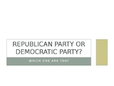 ESL- Which Party Are You? Interactive Presentation-