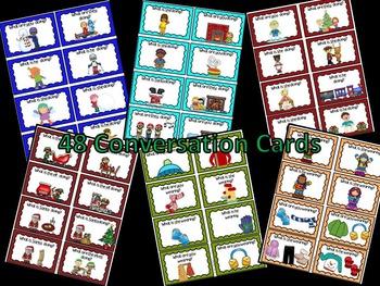 ESL Winter  & Christmas Conversation (Cards, Powerpoint, printables)