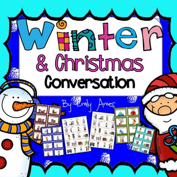 ESL Winter  & Christmas Conversation (Cards, Powerpoint, p