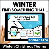 ESL Winter / Christmas Vocabulary Guessing Game BOOM CARDS
