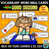 Word Wall Cards Bundle: Basic Vocabulary for ESL students and Young Learners