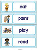 Word Wall Cards for ESL Students and Young Learners: 57 Basic Verbs