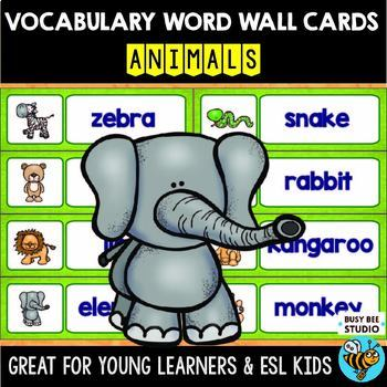 ESL Word Walls: Animals