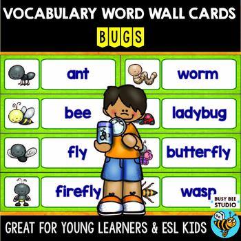ESL Word Walls: Bugs