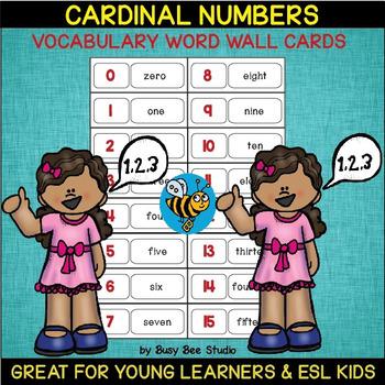 ESL Word Walls: Cardinal Numbers