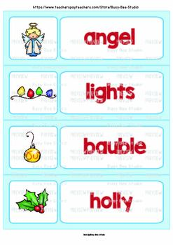 Word Wall Cards with Pictures | Christmas