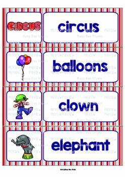 ESL Word Walls: Circus