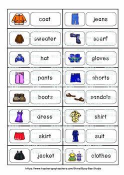 ESL Word Walls: Clothes