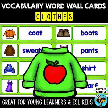 ESL Word Walls: Clothes