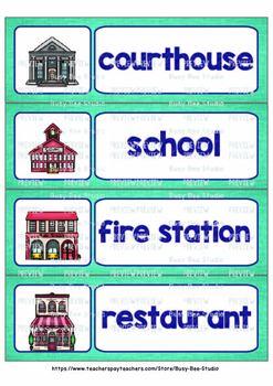 ESL Word Walls: Community Buildings