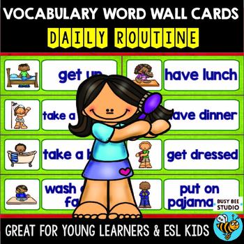 ESL Word Walls: Daily Routines