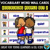 ESL Word Walls: Describing People set 2