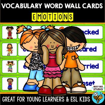 Word Wall Cards for ESL students and Young Learners: EMOTIONS
