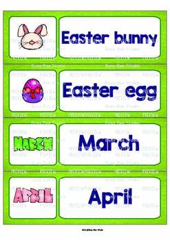 ESL Word Walls: Easter