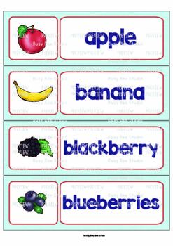 ESL Word Walls: Fruit