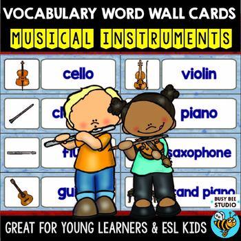 ESL Word Walls: Musical Instruments