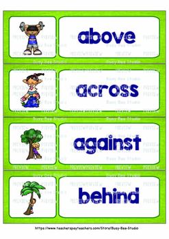 ESL Word Walls: Prepositions