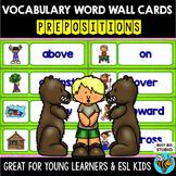 ESL Word Walls: Prepositions