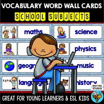 ESL Word Walls: School Subjects