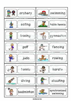 ESL Word Walls: Sports