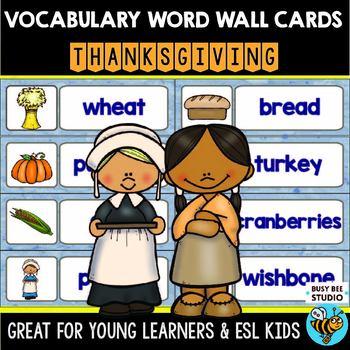 ESL Word Walls: Thanksgiving