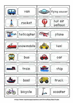 Illustrated Word Walls for ESL Students and Young Learners: Transportation
