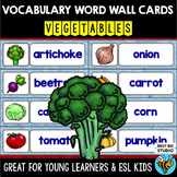 Word Wall Cards with Pictures   Vegetables   Writing Center