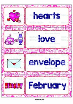 ESL Word Walls: Valentine's Day