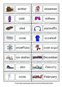 ESL Resources: Vocabulary Word Walls - Winter